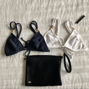 NWT Gooseberry Intimates triangle bikini tops